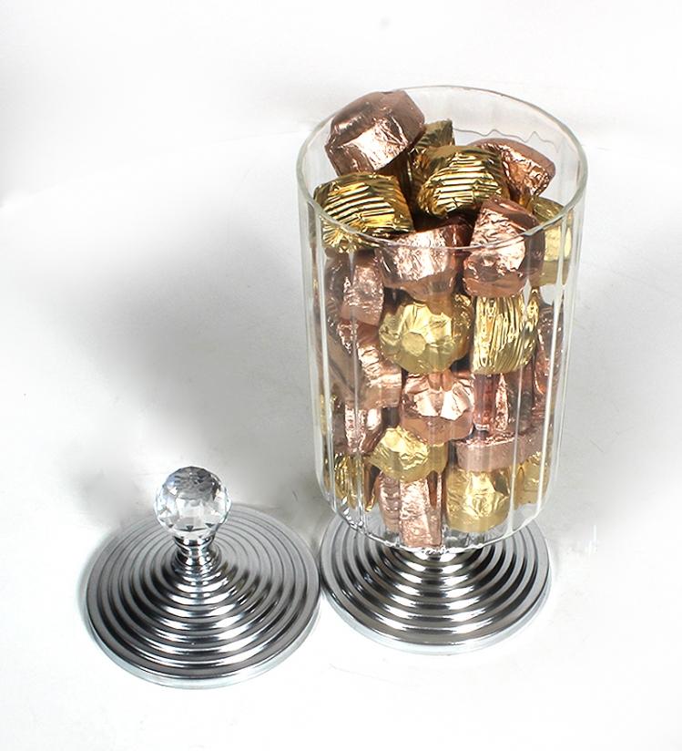Kristal Kulplu Gümüş Şekerlikte Misdiba Spesiyal Çikolata