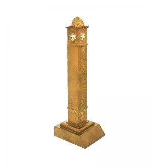 Altın Renk Büyük Saat Biblo 25 cm (Özel Tasarım Kutusuyla)