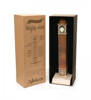 Eskitme Büyük Saat  35cm  ( Özel Tasarım Kutusuyla)
