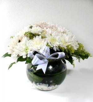 Cam Fanusta Kasımpatı Çiçekleri