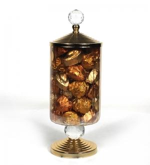 Kristal Kulplu Gold Şekerlikte Misdiba Spesiyal Çikolata