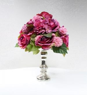 Gümüş Kaplama Kadehte Yapay Çiçek Tanzimi