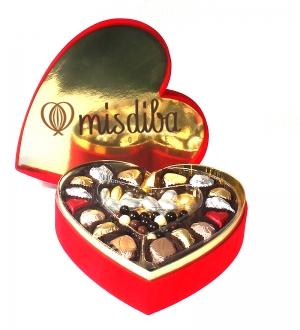 Kalpli Kutuda Misdiba Spesiyal Çikolata ve Drajeler