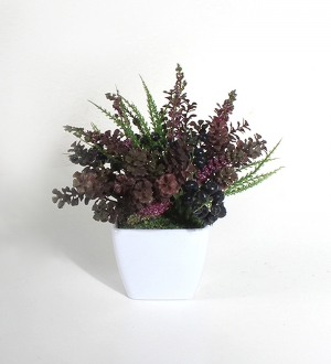 Seramikte Yapay Mini Bitki Örtüsü